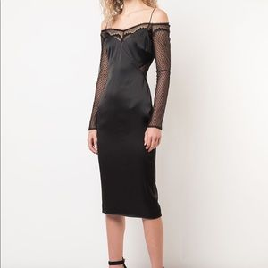 Cushnie Black Laced Dress